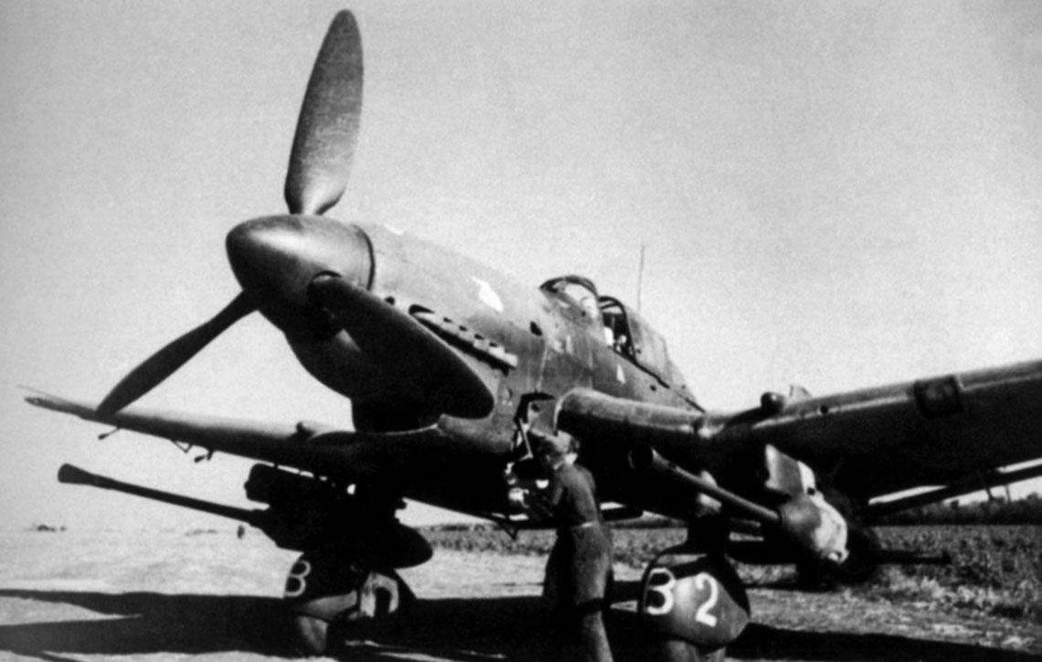 Ju 87 G-1 gotowy do startu, za sterami Hptm. Hans-Ulrich Rudel; 5 lipca 1943 r.