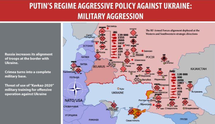 Koncentracja Sił Zbrojnych Federacji Rosyjskiej w pobliżu ukraińskiej granicy. Il.: SZRU