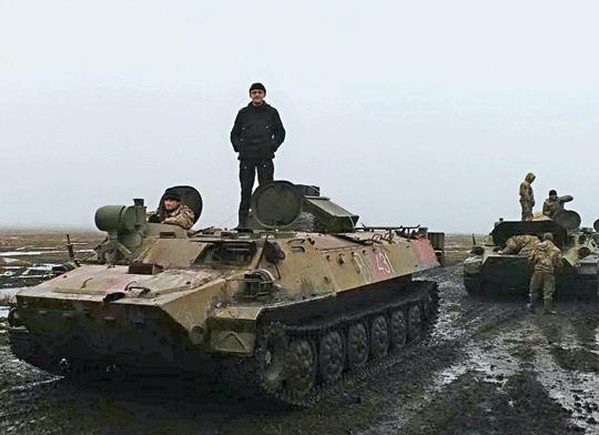 Wóz bojowy systemu Szturm-S z3.baterii dywizjonu przeciwpancernego  53.Brygady Zmechanizowanej.