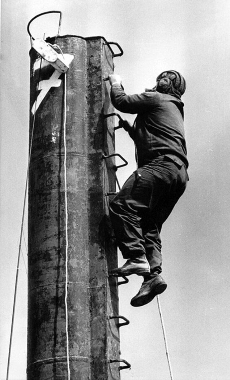 Po zamontowaniu dużej czerpni wejście do wozu wymagało sporej zręczności i odwagi.