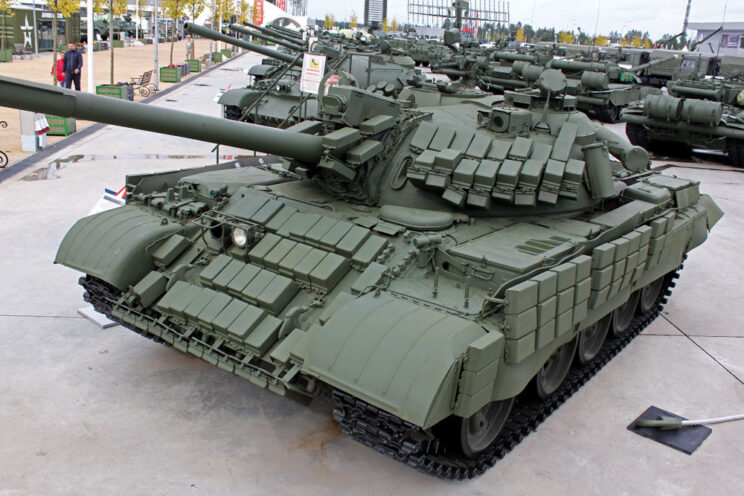 Zmodernizowany czołg średni T-55AMW.