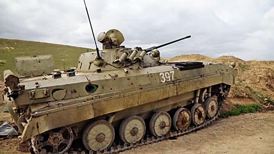 Jeden ztrzech sprawnych iprzejętych przez Ormian bojowych wozów piechoty BMP-2.