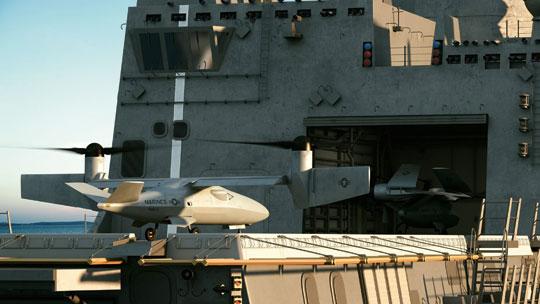 BSP MUX Korpusu Piechoty Morskiej zaliczane do grupy piątej UAS mają być zdolne do bazowania na pokładach okrętów US Navy i uniwersalnych okrętów desantowych USMC.
