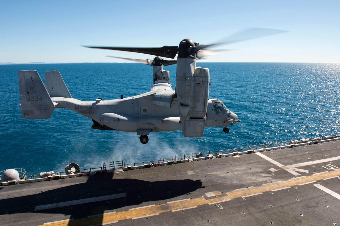 W wyniku wprowadzanych zmian liczba eskadr USMC wyposażonych wzmiennowirnikowce MV-22 Osprey zostanie zmniejszona z siedemnastu do czternastu.