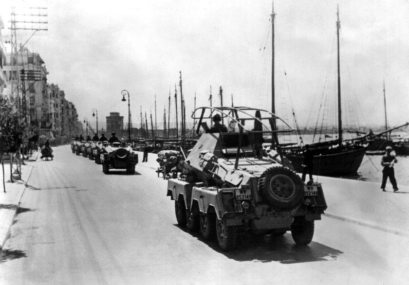Ostatni niemiecki blitzkrieg – kampania bałkańska 1941 r. Batalion rozpoznawczy 2. Dywizji Pancernej wkracza do Salonik.
