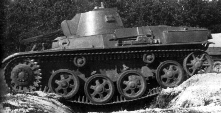 Testy zakupionego w Szwecji czołgu lekkiego Landsverk L-60; 1936 r.