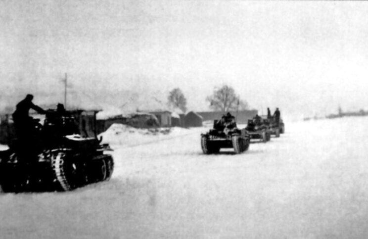 Odwrót węgierskich czołgów PzKpfw 38(t); grudzień 1942 r.