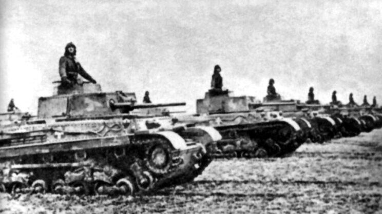 Czołgi Turan II należące do węgierskiej 2. Dywizji Pancernej; 1944 r.