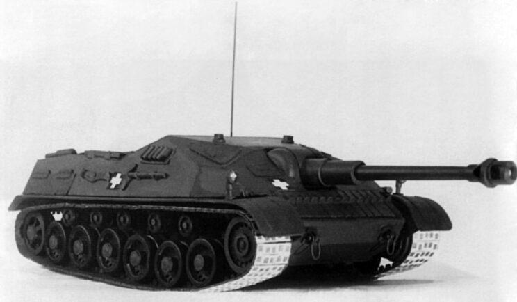 Model nowoczesnego działa szturmowego armii węgierskiej M.44 Tas.
