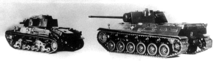 Porównanie czołgu Turan II z projektem czołgu ciężkiego M.44 Tas; 1945 r.