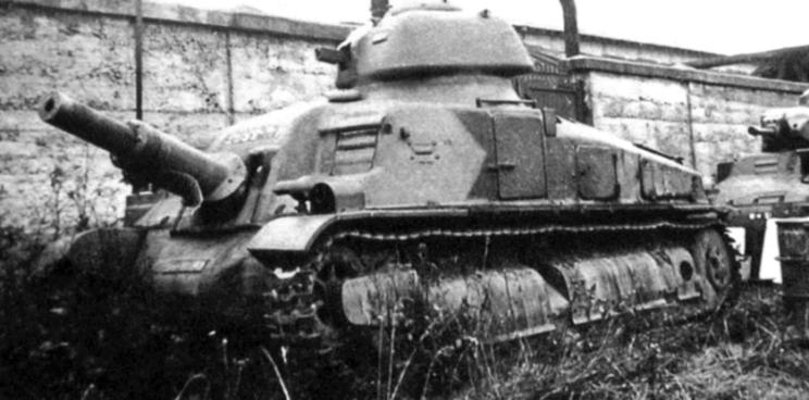 Działo samobieżne SOMUA SAu 40 uzbrojone w armatę forteczną Canon de 75 mm de casemate Modèle 1929 (Atelier de construction de Puteaux, APX). Jego produkcja seryjna miała ruszyć latem 1940 r. …