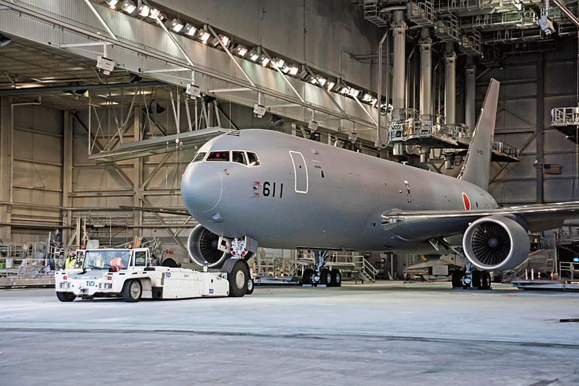 Pierwszy eksportowy KC-46A Pegasus trafi do Japońskich Powietrznych Sił Samoobrony. Obecnie maszyna przechodzi pierwsze próby naziemne.