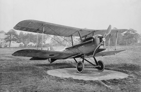Ten sam samolot w innym ujęciu. Lt. A. Morey zginął 24 stycznia 1918r. w zderzeniu z myśliwcem Albatros zJasta 7.