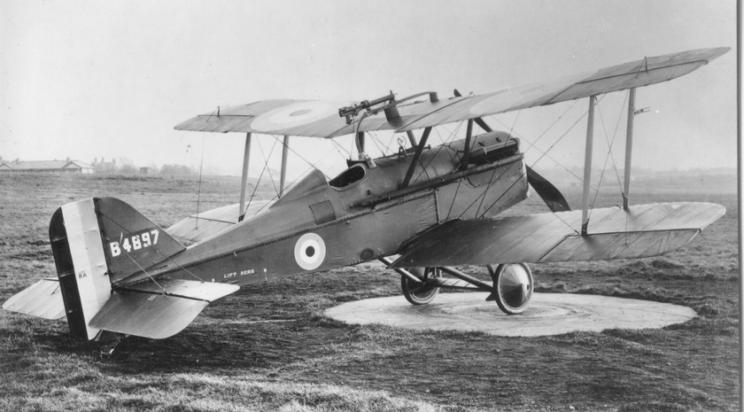 S.E.5a, którym latał Lt. Alan Morey z 60. Sqn RAF.