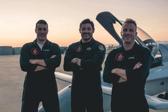 Zespół Red6, który pracuje nad nowym rozwiązaniem, które ma zrewolucjonizować szkolenie pilotów myśliwskich: Dan Robinson (w środku) i jego współpracownicy – Nick Bicanic (po lewej) oraz Glenn Snyder.