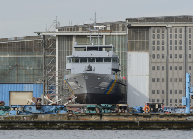 W Wolgaście czeka też na przekazanie Egiptowi patrolowiec typu CPV60. Niedoszły Alriyadh ma 60m długości i jest największą jednostką powstałą w efekcie kłopotliwego kontraktu z 2015r. Fot. Tomasz Grotnik