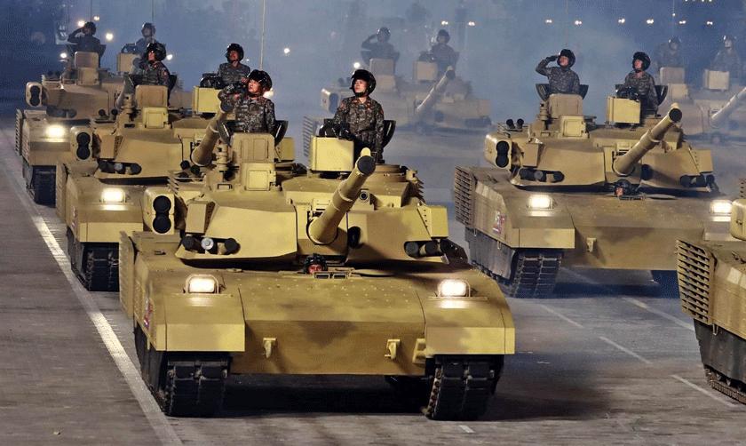 Wóz widziany z przodu przypomina nieco amerykańskiego Abramsa.