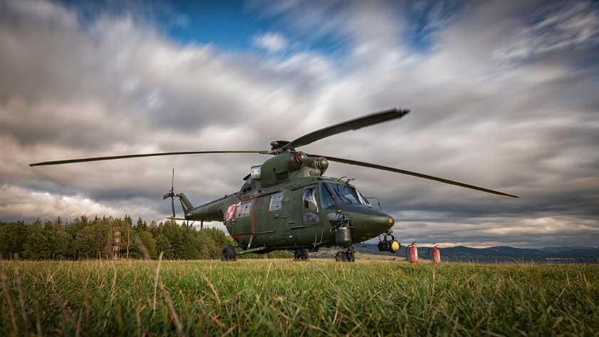 W jednym ze scenariuszy, w rejonie górskim, przećwiczono elementy zzakresu poszukiwania i ratowania rozbitków  zkatastrofy lotniczej samolotu komunikacyjnego.