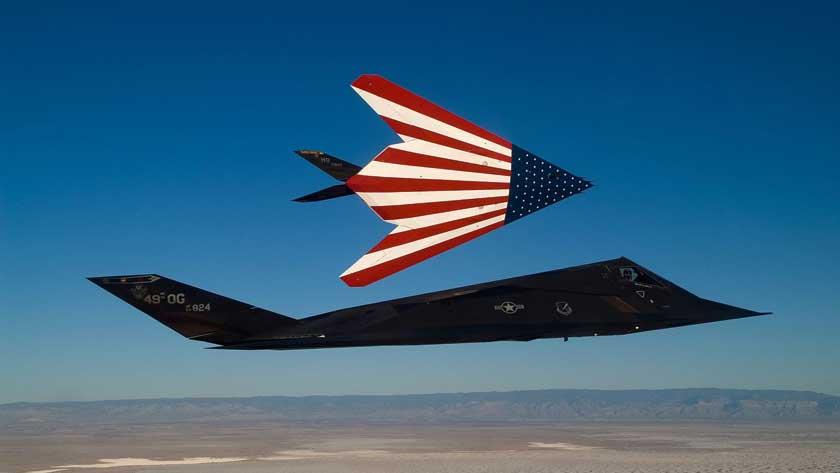 F-117A jest symbolem amerykańskiej dominacji technologicznej w czasach zimnowojennych.