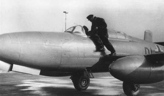 Przygotowania do startu He 280 V1.