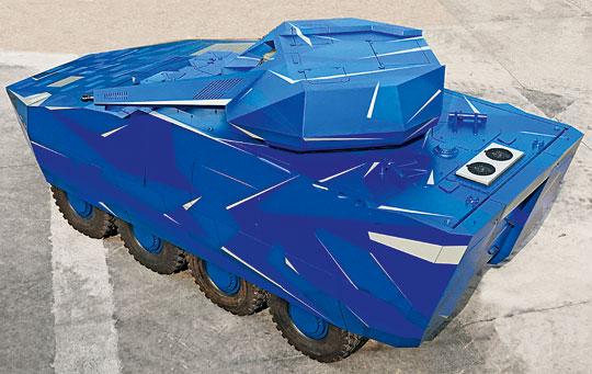 Pojazd wyróżnia się modułową konstrukcją iinnowacyjnym układem napędowym odużej mocy.