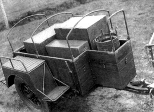 Półwozie tylne wozu technicznego plutonu dźwiękowego pomiarów artylerii. Modelowy egzemplarz tego pojazdu, wykonano na przełomie 1937/39 r. w oparciu o podzespoły wozu wz. 38Ł.
