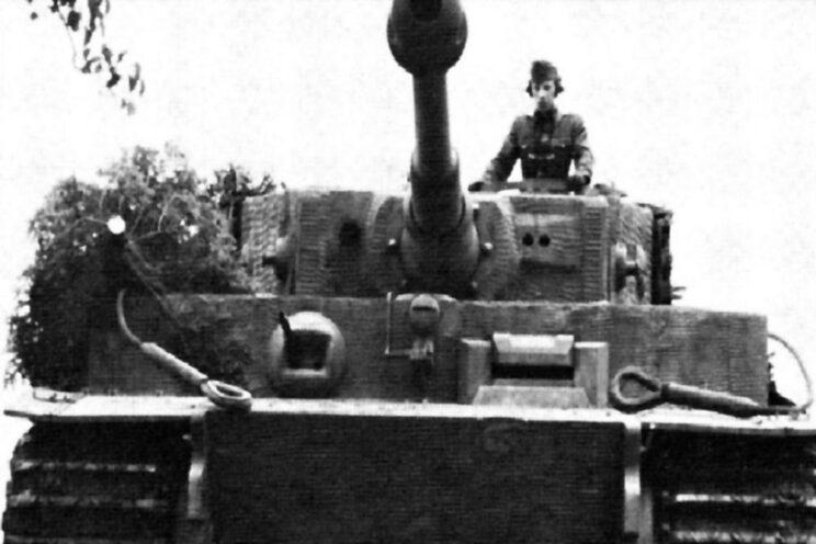 Tygrys (o numerze bocznym 214) porucznika Tarczaya, asa węgierskiej broni pancernej.