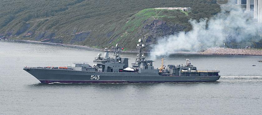 Fregata Marszał Szaposznikow, czyli BPK projektu 1155 po modernizacji. Przy tej okazji pojawia się oznaczenie 1155M1, ale nie jest jasne, czy ma ono charakter oficjalny. To pierwszy okręt I rangi z czasów sowieckich poddany unowocześnieniu w takim zakresie.