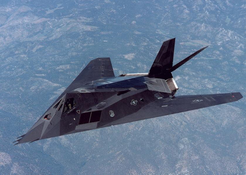 Samolot F-117A dowódcy dywizjonu testowego 410th FLTS Lt. Col. Stevena A. Greena. W 1994 r. jako pierwszy z pilotów F-117A osiągnął on nalot tysiąca godzin.
