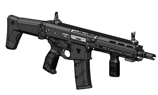 """Subkarabinek w kolbowym układzie konstrukcyjnym jest """"skróconą"""" odmianą 5,56 mm karabinka standardowego (podstawowego) MSBS-GROT, w której zastosowano lufę o długości 264 mm. Dzięki temu broń jest bardzo kompaktowa, co sprawia, że doskonale nadaje się do walki np. w pomieszczeniach."""