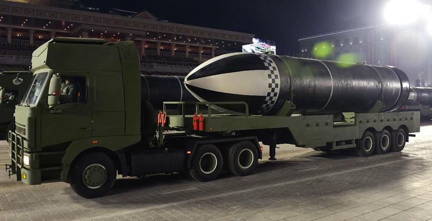 Pokazany po raz pierwszy 14 stycznia 2021 r. pocisk balistyczny Pukguksong-5.