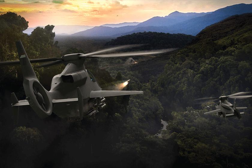 W ramach programu Future Vertical Lift realizowane są postępowania mające wyłonić dostawców perspektywicznych wiropłatów FLRAA (Future Long Range Assault Aircraft) i FARA (Future Attack Reconnaissance Aircraft), które w niedalekiej przyszłości mają w lotnictwie US Army zastąpić jego obecne konie robocze – śmigłowce Sikorsky/ /Lockheed Martin UH-60 Black Hawk i Boeing AH-64 Apache. Rysunek przedstawia śmigłowiec Bell 360 Invictus, rywalizujący w programie FARA.