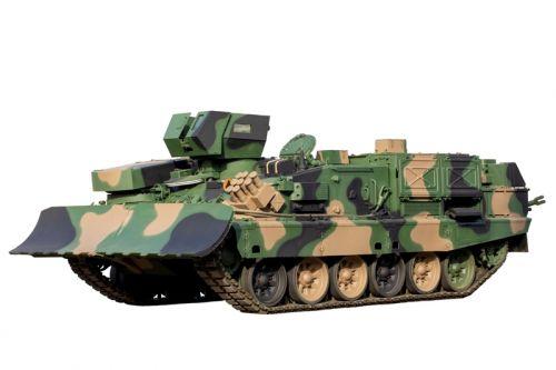 OBRUM Sp. z o.o. przekazał Wojskom Lądowym pierwszy zmodyfikowany czołg saperski MID. Fot. OBRUM.
