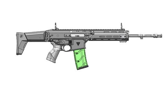 5,56 mm karabinek standardowy (podstawowy) w układzie klasycznym MSBS GROT w wersji A0
