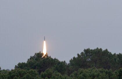 Testowe odpalenie pocisku balistycznego M51 28 kwietnia 2021 r. Fot. DGA.