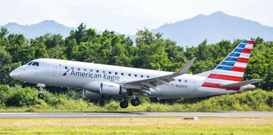 Embraer wyprodukował 44 samoloty E-Jets, z tego najwięcej modelu E175 (32 szt.). Na zdjęciu E175 w barwach amerykańskiego przewoźnika regionalnego American Eagle.
