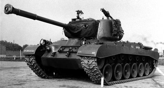 Jeden z sześciu prototypów T40, z którego wywodzi się M46 Patton. Miała to być maszyna przejściowa przed opracowaniem docelowego czołgu średniego.