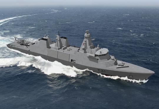 Wizualizacja fregaty Type 31 dla Royal Navy. Jej wariant eksportowy Arrowhead 140 może otrzymać system walki o innej konfiguracji, dostosowanej do wymogów zamawiającego.