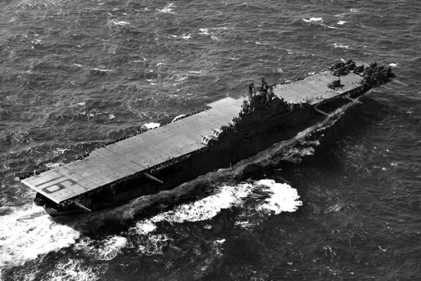 USS Lexington, flagowy okręt wiceadm. Marca Mitschera, dowódcy Zespołu Lotniskowców Szybkich (TF 58).
