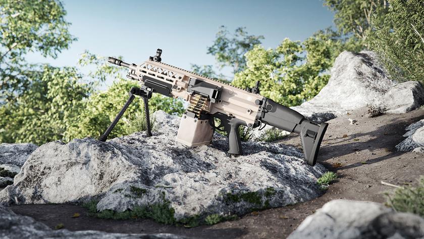 FN Evolys wwersji na amunicję 5,56×45 mm NATO wcałej okazałości.