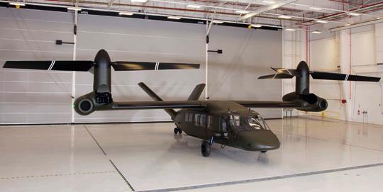 V-280 otrzymał dwa silniki General Electric T64-GE-419, których słabsza wersja napędza śmigłowce CH-53E.