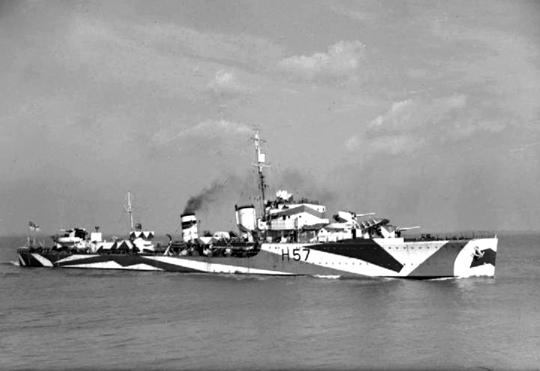 HMS Hesperus – jeden z brytyjskich niszczycieli zaangażowanych w walki na Atlantyku z niemieckimi okrętami podwodnymi.