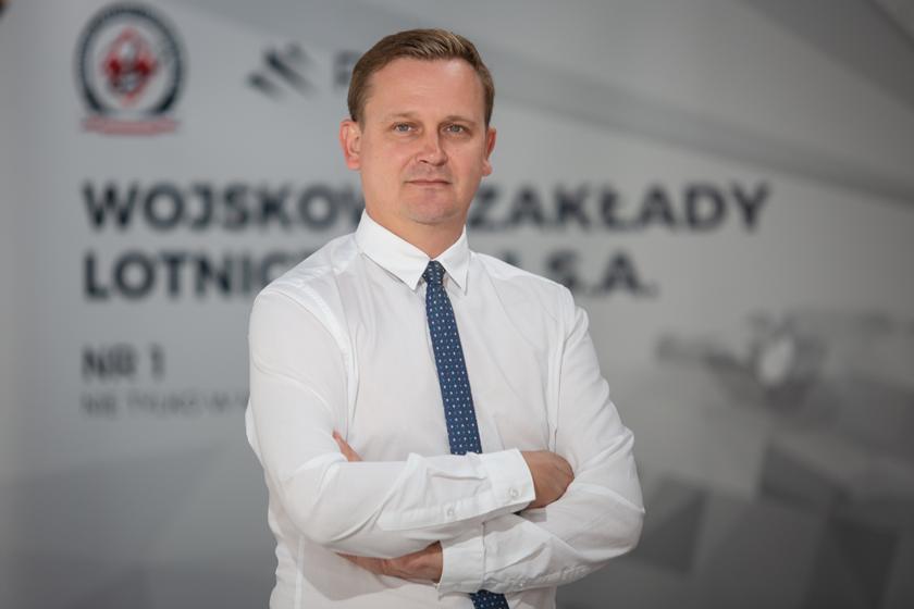 Marcin Nocuń - Prezes Zarządu, Dyrektor Naczelny Wojskowych Zakładów Lotniczych Nr 1 S.A.