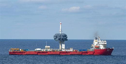 Statek DeBo-3 to pływający po Morzu Żółtym chiński kosmodrom.
