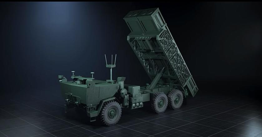 Wizja docelowej (?) bezzałogowej wyrzutni systemu GMLRS/ATACMS/PrSM dla jednostek artylerii polowej US Army.