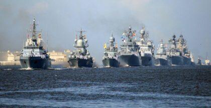 Główna parada z okazji święta WMF odbyła się w Petersburgu i Kronsztadzie. Fot. Walentin Jegorszyn/TASS