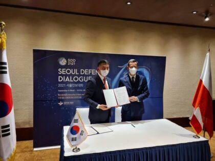 Sekretarz Stanu w MON Marcin Ociepa złożył wizytę w Seulu